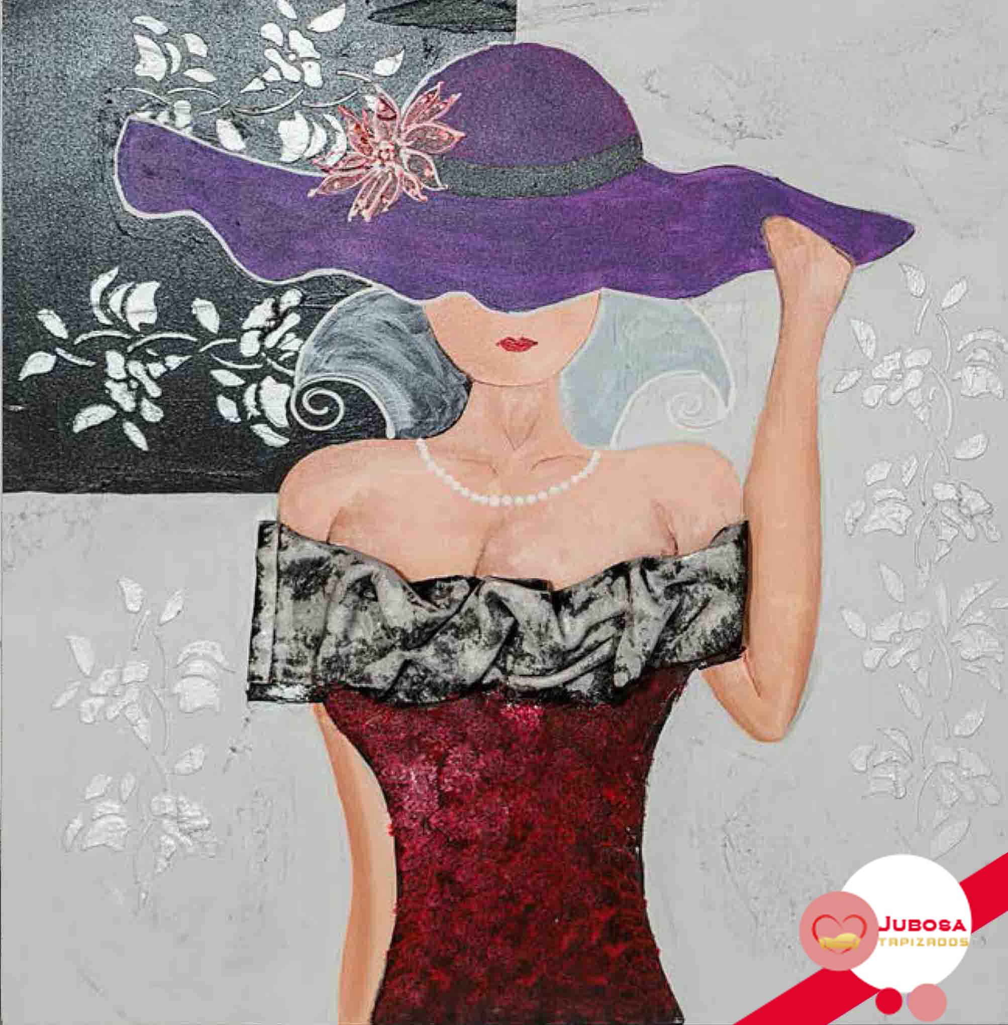 cuadro pamela lila tapizados jubosa