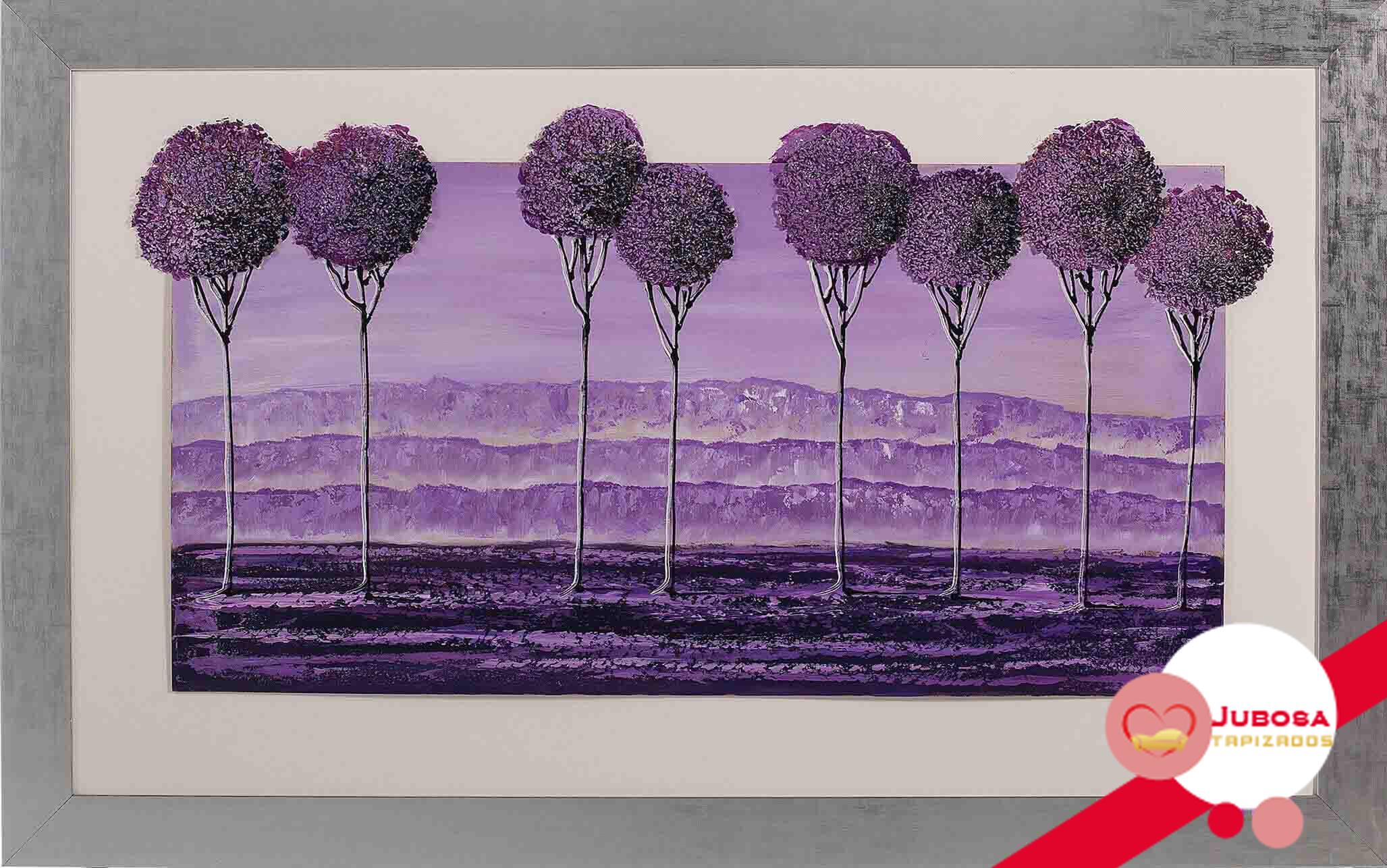 cuadro purpura tapizados jubosa