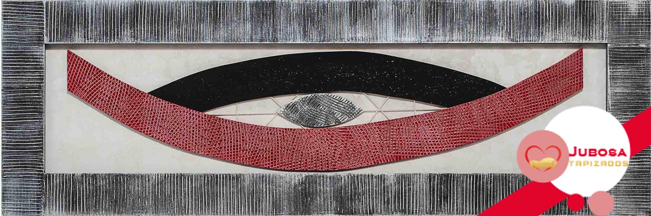cuadro relieve rojo tapizados jubosa