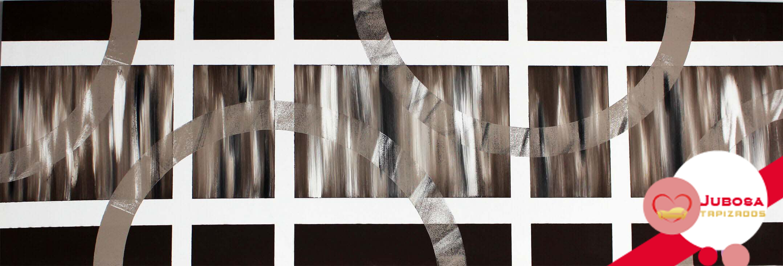cuadro semicirculos tapizados jubosa