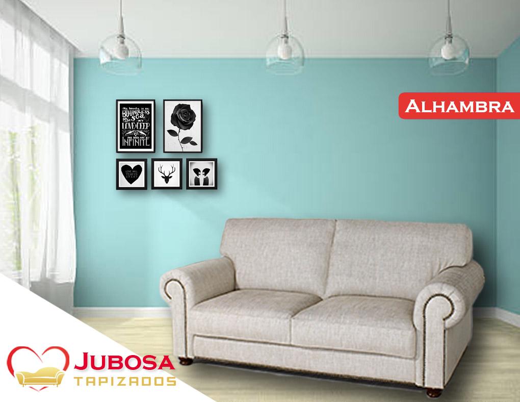 sofa con fondo alhambra tapizzados jubosa