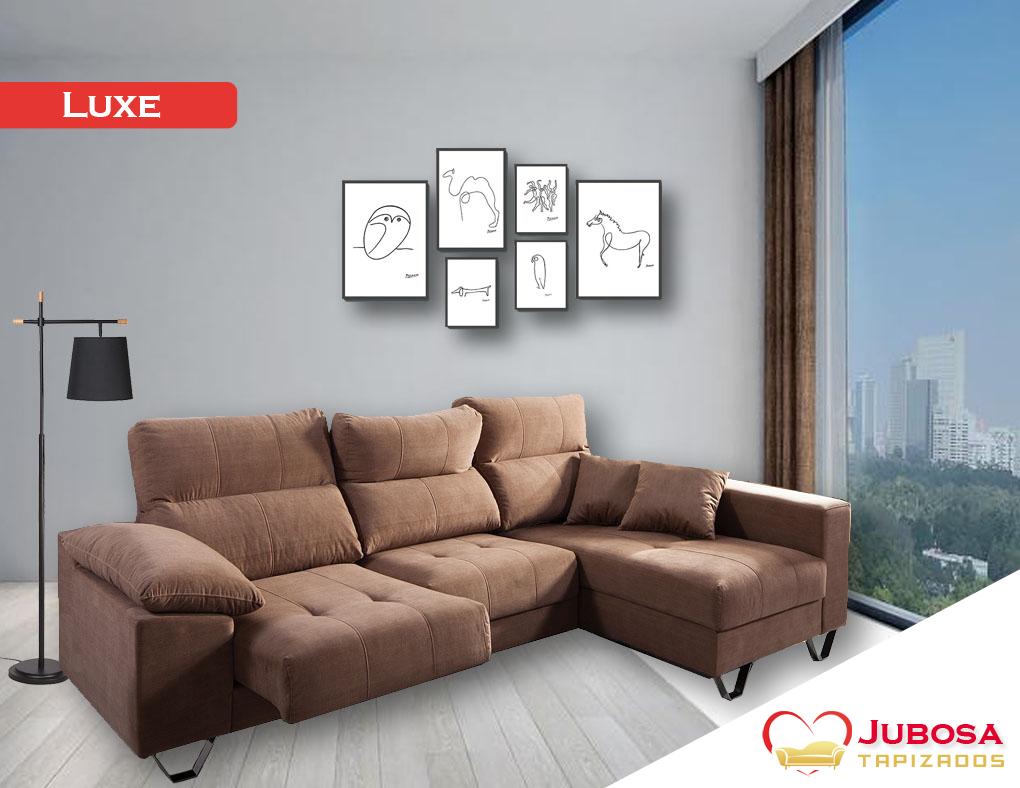 sofa con fondo luxe tapizados jubosa