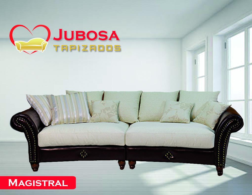 sofa con fondo magistral tapizados jubosa