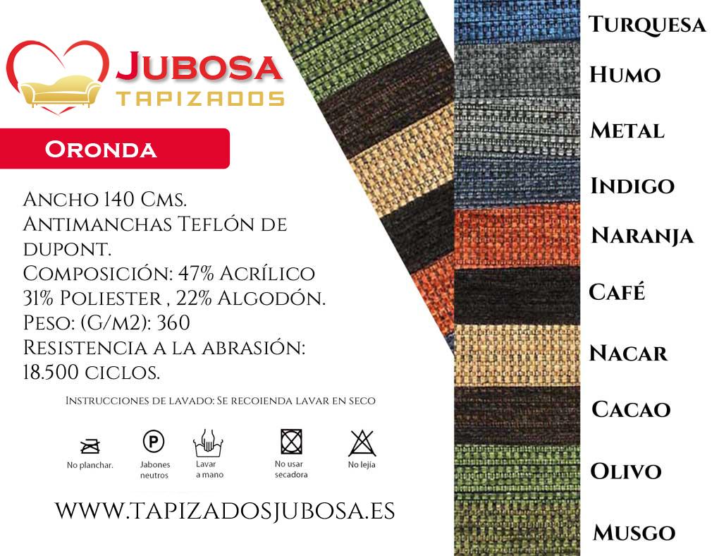 tejido oronda tapizados jubosa