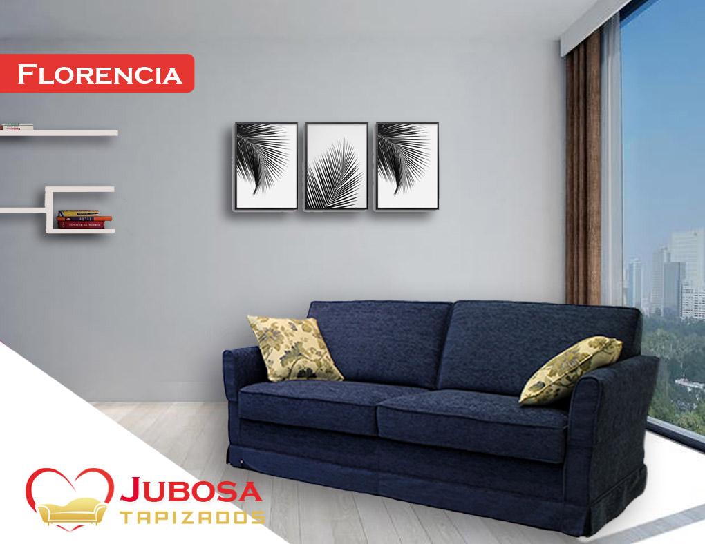 sofa con fondo florencial - tapizados jubosa