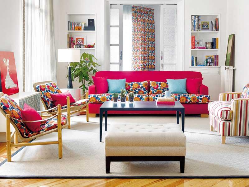 decoracion con muebles tapizados